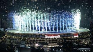 Tokyo 2020 Fuochi d'artificio - Cerimonia apertura Olimpiadi