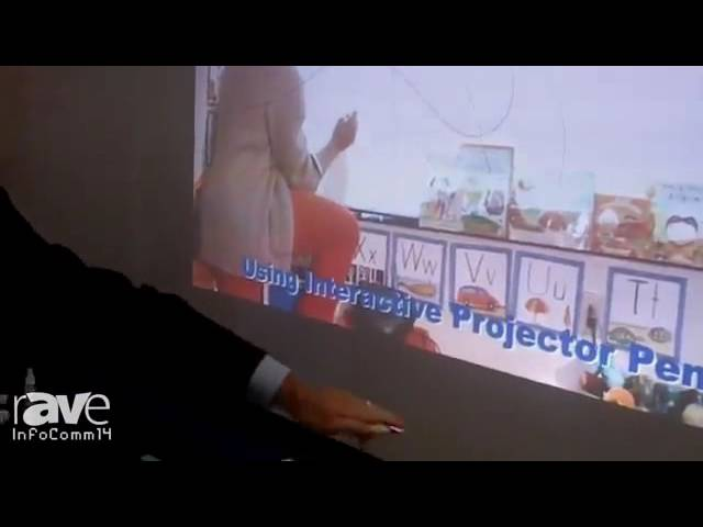 Elite Screens WhiteBoard Universal Projection Screen Live from InfoComm 2014