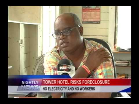 TOWER HOTEL RISKS FORECLOSURE