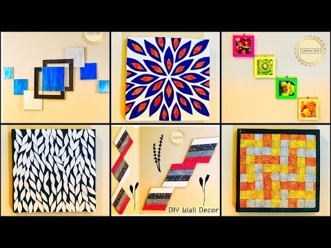 6 Super Simple Wall Decor Ideas|gadac diy|DIY from Waste Materials|diy crafts|home decorating ideas