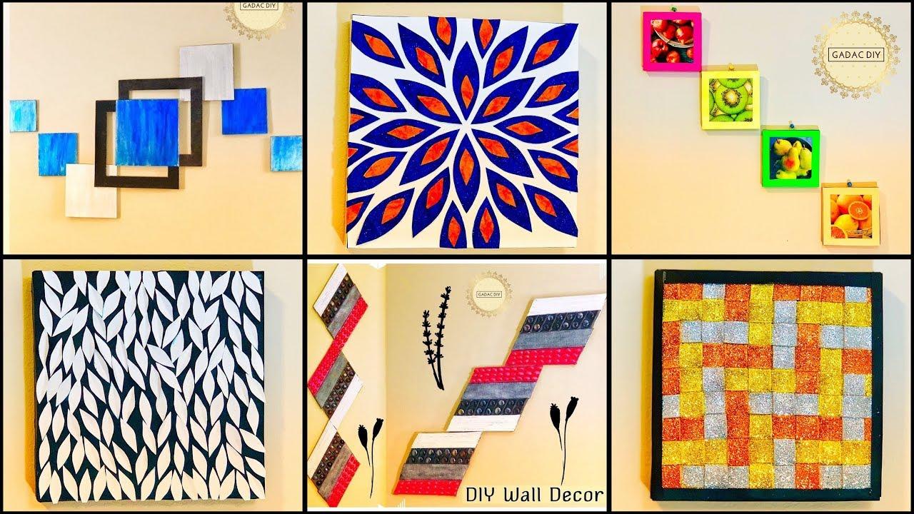 24 Super Simple Wall Decor Ideasgadac diyDIY from Waste Materialsdiy  craftshome decorating ideas
