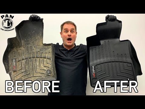 HOW TO CLEAN RUBBER FLOOR MATS !!  QUICK & EASY !