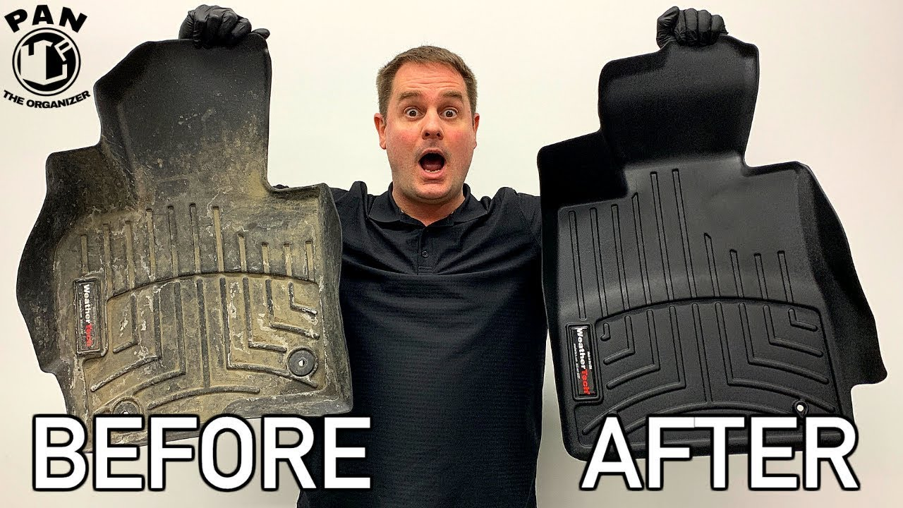 How To Clean Rubber Floor Mats Quick Easy Youtube