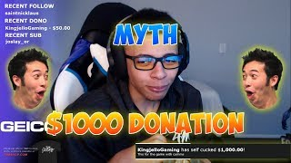 TheMyth Gets Donated $1000 And Duos With Him!