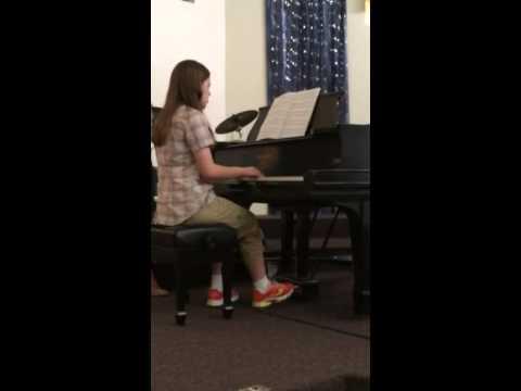 Bridget performs Hedwig's Theme on piano in Champaign-Urbana, IL