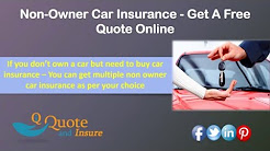 Non-Owner Car Insurance Quote - Liability Coverage for Car-Free Drivers