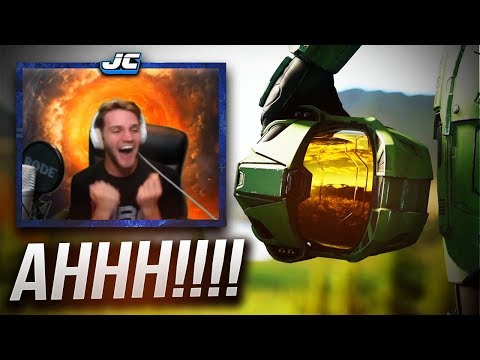 HALO INFINITE REACTION... Grown Man Physically Loses It. ( Halo Infinite Trailer Reaction  E3 2018)