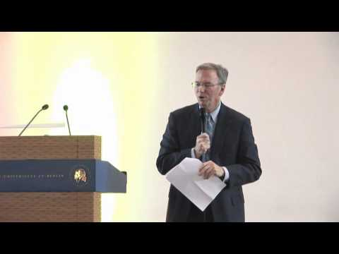 Eric Schmidt at Humboldt University
