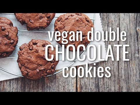 VEGAN DOUBLE CHOCOLATE COOKIES | hot for food