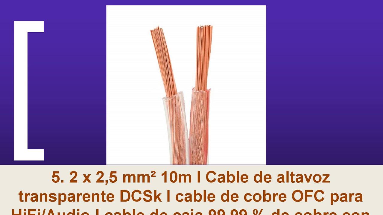 Cable de altavoz 50 m, 2 x 1,5 mm/², 100/% CCA, Hi-Fi Manax
