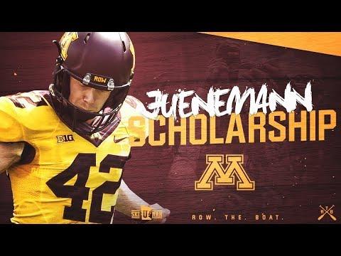 Gopher Football Justin Juenemann Scholarship Reveal!