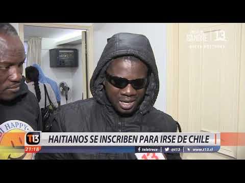 Haitianos se inscriben para irse de Chile