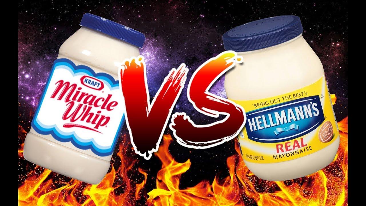 miracle whip vs mayonnaise youtube