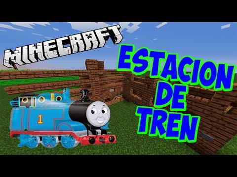 Como hacer una estación de Tren #11# /TUTORIALES EN MINECRAFT PC, PE, XBOX 360, XBOX ONE, PS3 Y PS4/