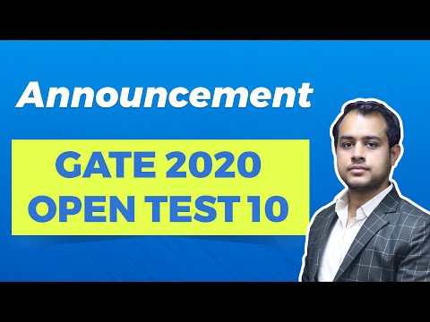 Free GATE 2020 Open Test 10 | Exam Details & Syllabus | EE, ECE, ME & CE