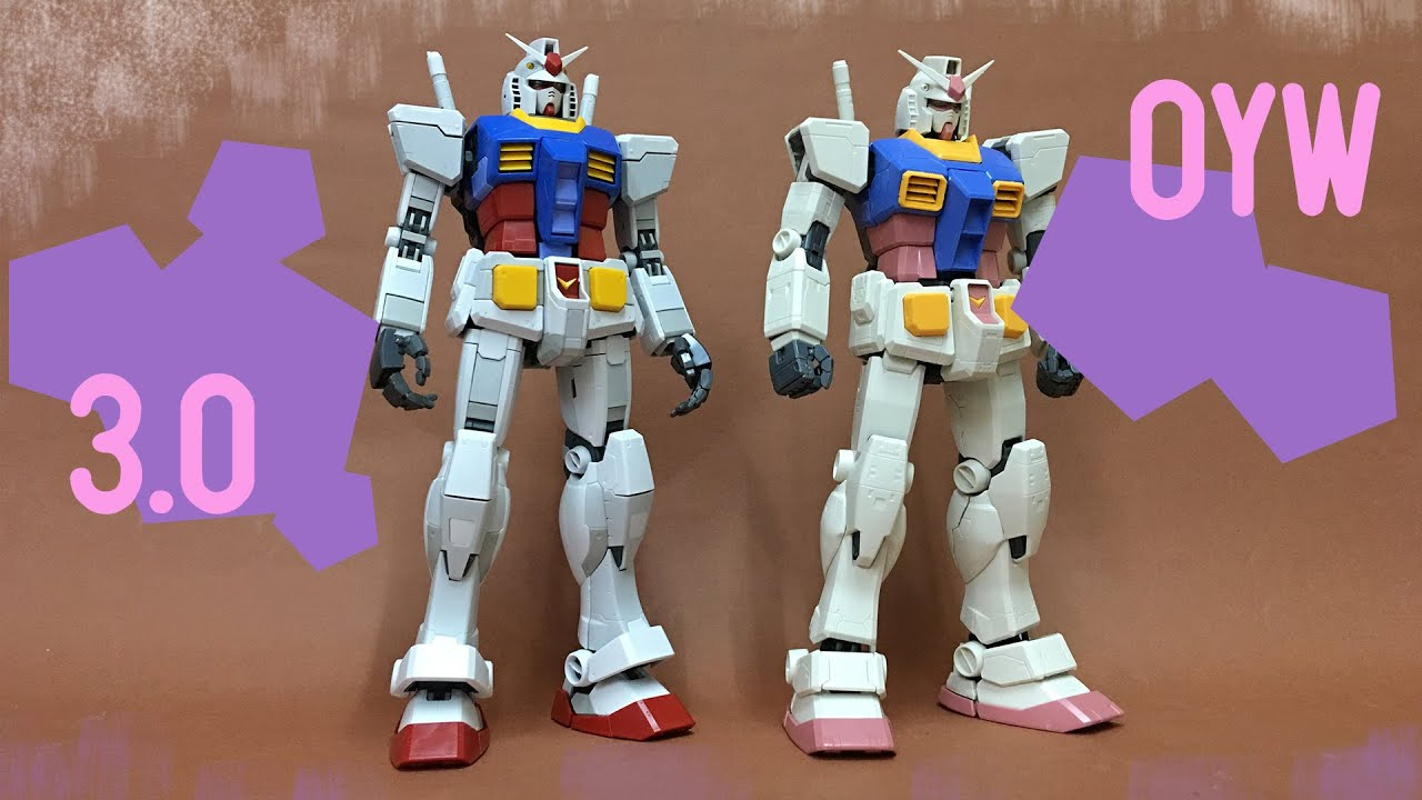 Download MG Gundam RX 78 3.0 Compare with OYW