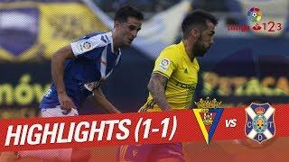Resumen de Cádiz CF vs CD Tenerife (1-1)