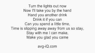 Glad You Came by The Wanted acoustic guitar instrumental cover with lyrics