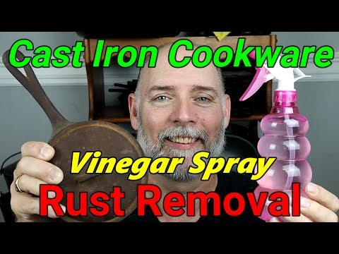 Vinegar Spray Rust Removal