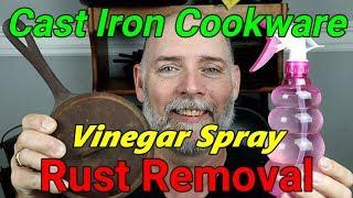Vinegar Spray Rust Removal