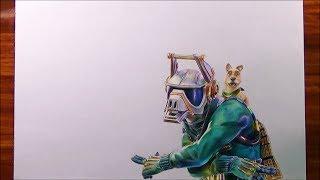 Torneo Youtubers dibujantes 3 - Cómo dibujo a Dj Yonder de Fortnite | PatrickART