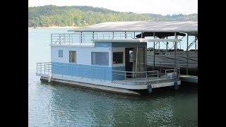 1964 Custom Built Aluminum Pontoon Houseboat For Sale On Norris Lake Tn - Sold!