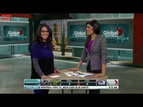 2013 02 05 Patricia Gajo on Montreal Fashion Week - Global Morning Show