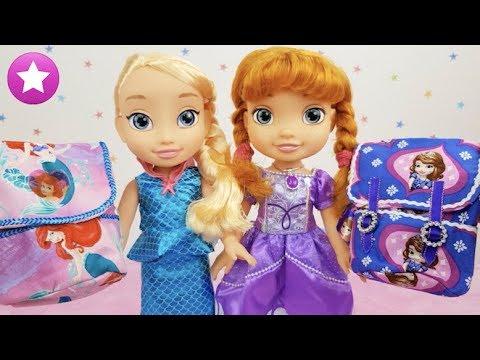 ELSA Y ANNA estrenan disfraces y mochilas de ARIELy la Princesa SOFÍA con accesorios a juego