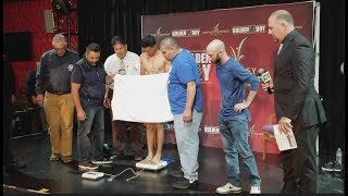 CARLOS MORALES v DARDAN ZENUNAJ - OFFICIAL WEIGH IN & HEAD TO HEAD