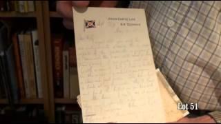 "Stuart Braga collection, ""Letter from Private Percy Morgan"", Lot 51"