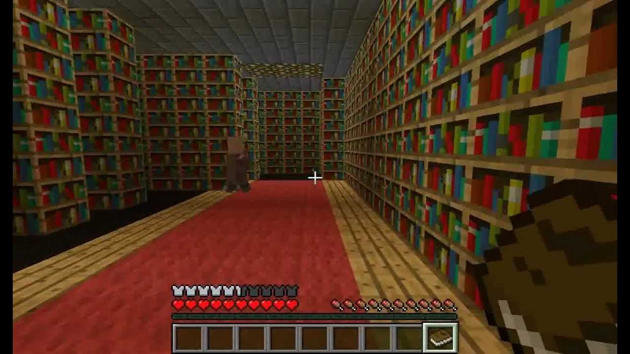 Minecraft Library! - YouTube