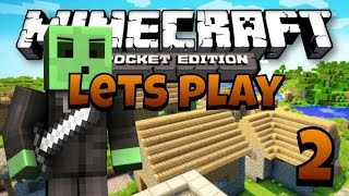 Let's Play Minecraft PE - Ep.2 : Two Villages!