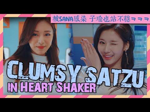 "Clumsy Sana and Tzuyu in TWICE ""Heart Shaker"" M/V"
