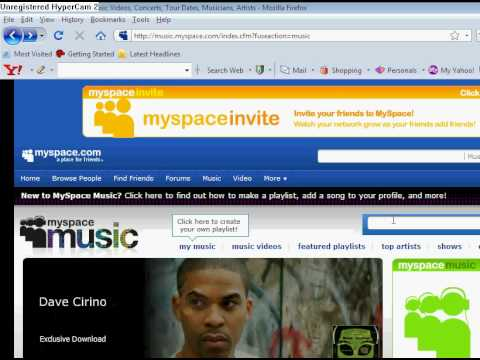 HOW TO DOWNLOAD FREE MP3 FROM MYSPACE...