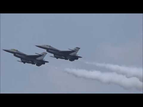 Singapore Airshow2018 F-15SG and F-16C