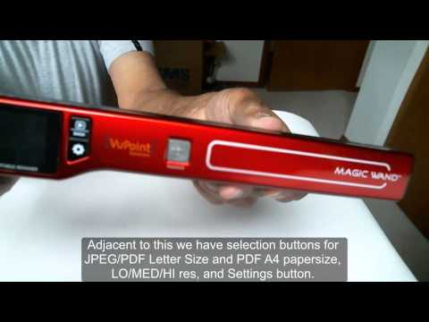 Vupoint Portable Scanner PDSST470VP or Magic Wand IV Review and Results