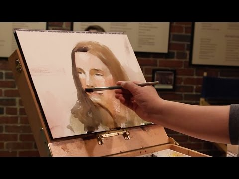 Watercolor Portrait Live Demonstration at Children's Museum of NH