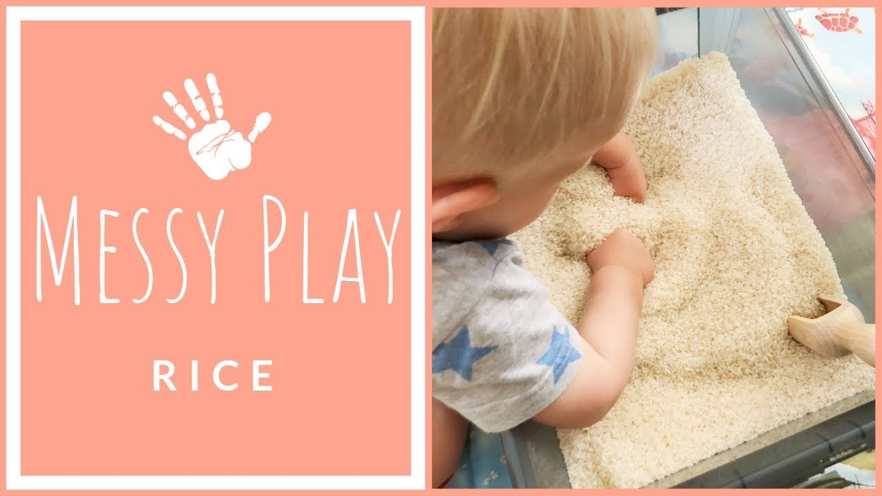 MESSY PLAY with RICE | Sensory Activities for Toddlers