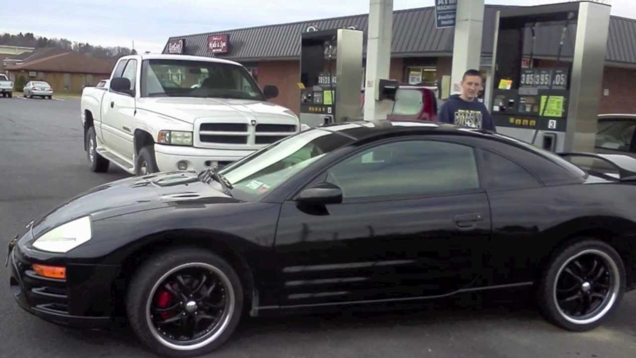 2003 eclipse gs k&n short ram intake before and after - YouTube