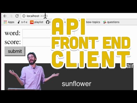 8.6: API Front End Client - Programming from A to Z