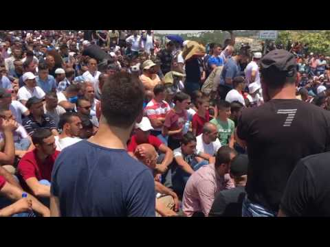 Muslim worshippers begin prayers near Herod