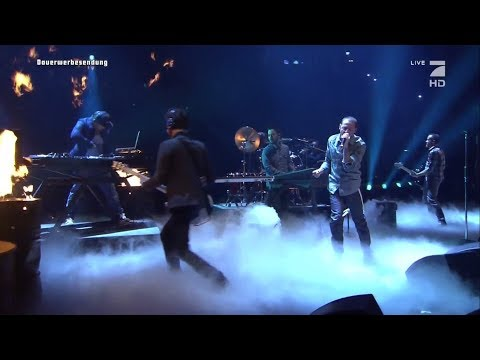 Linkin Park Performs Burn It Down at  TV total Autoball EM, Germany 2012
