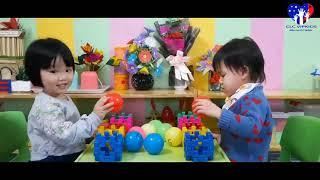 Trò chơi giúp các bé 3-4 tuổi ôn nhận biết các  màu sắc - của các bạn nhỏ Mầm non Vip Kids lớp 3A1