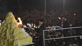 Satmar Hadlakah - Bonfire in Kiryas Yoel Lag B'Omer 5775 - 2015