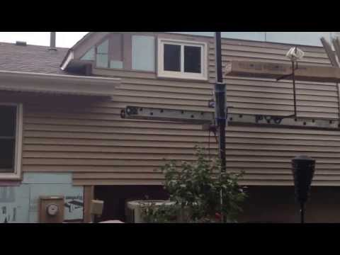 Eric Rogers Roofing Siding Replacement 4.65 SQ Rear Elevation Pebblestone Clay