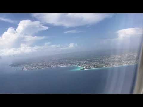 Shaun & Liza O'Connor- On approach into Bridgetown , Barbados.