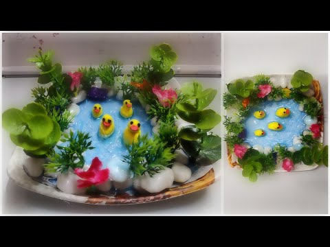 How To Make a Beautiful Pond With Pebbles [ Nature craft ] 🌲