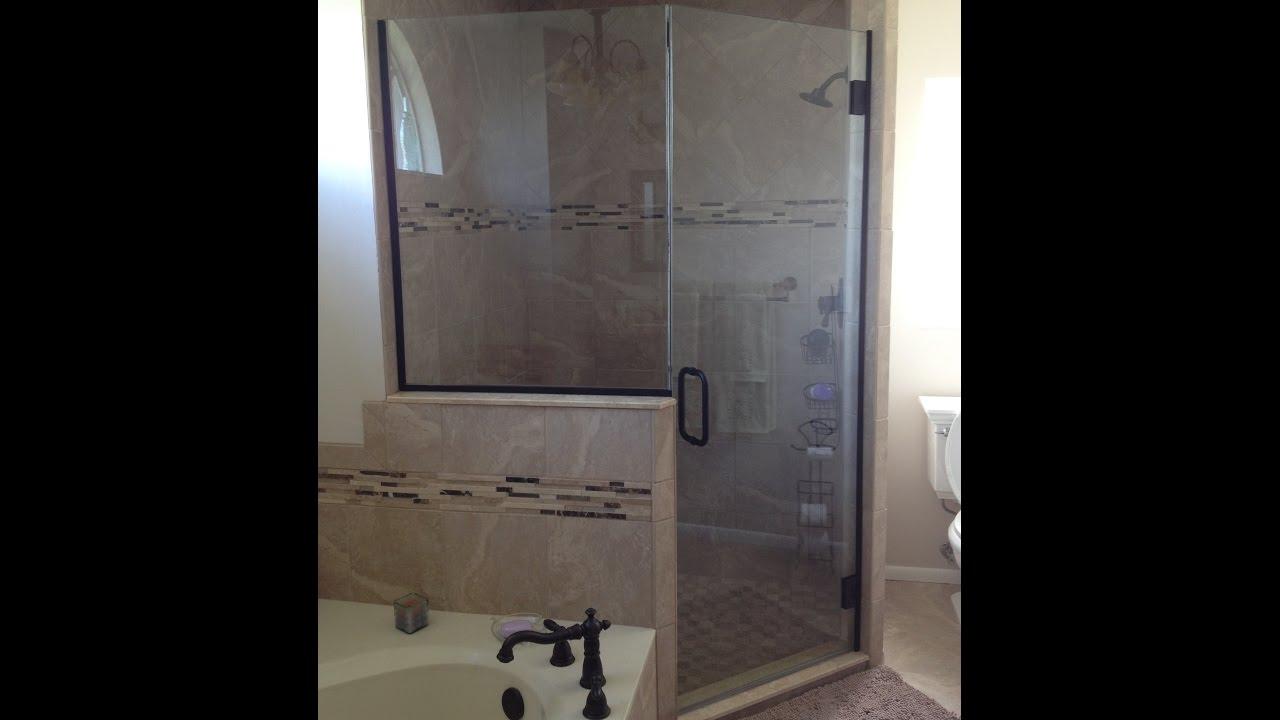 Heavy Glass Jamb Mount Hinge Shower Enclosure
