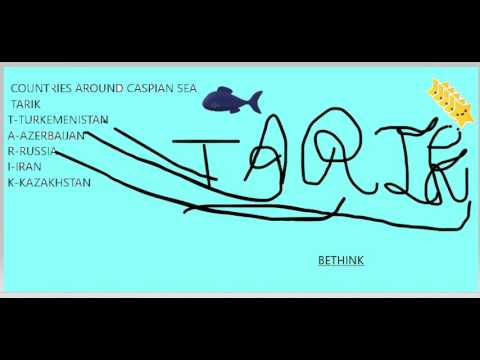 trick to remember countries around caspian sea (saltiest lake of the world )