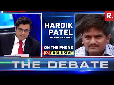 Hardik Patel Speaks Exclusively To Arnab Goswami